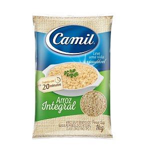 Arroz integral longo fino - Camil - 1kg