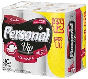 PAPEL HIGIENICO PERSONAL VIP - 12 UNIDADES