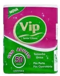 ABSORVENTE GERIÁTRICO PÓS PARTO E PÓS OPERATÓRIO VIP TAMANHO UNICO - 50 UNIDADES