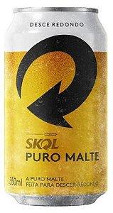 CERVEJA SKOL PURO MALTE - 350mL - 1UNIDADE