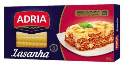 MASSA PARA LASANHA ADRIA - 500g