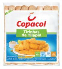 TIRINHAS DE TILAPIA CONGELADA COPACOL