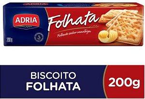 BISCOITO CREAM CRACKER FOLHATA - ADRIA - 200g