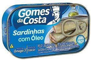 SARDINHA GOMES COSTA AO OLEO - 84g