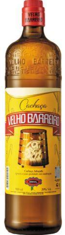 CACHAÇA VELHO BARREIRO LIMÃO - 910mL