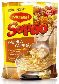 Sopao sabor galinha caipira - Maggi - 200g