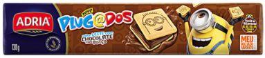 BISCOITO RECHEADO PLUGADOS SABOR CHOCOLATE - ADRIA (130g)