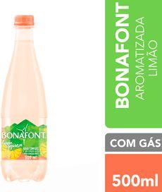 AGUA MINERAL AROMATIZADA LEMON SQUEEZE COM GAS - BONAFONT - 500mL