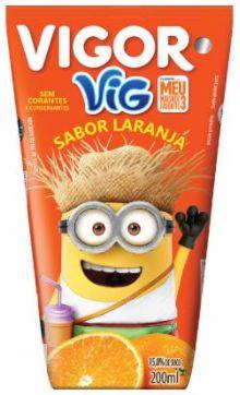 SUCO DE LARANJA VIG SABOR LARANJA - VIGOR - 200mL
