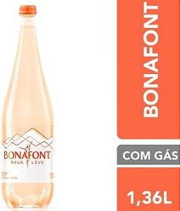 AGUA MINERAL COM GAS - BONAFONT - 1,36L