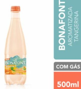 AGUA MINERAL AROMATIZADA TANGERINA COM GAS - BONAFONT - 500mL