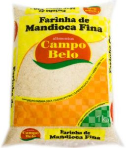 Farinha de mandioca fina - Campo belo - 1kg