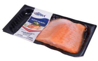 File de salmao congelado - Bom peixe - 1kg