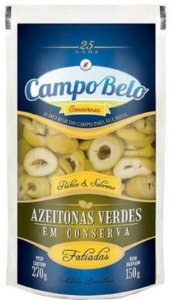 AZEITONA VERDE FATIADA - CAMPO BELO - 150g