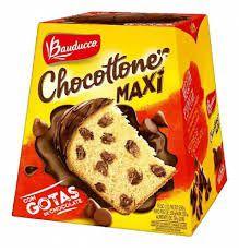Panettone gotas de chocolate com cobertura de chocolate - Bauducco - 500 gr