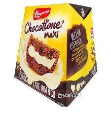 Panetone maxi recheado com chocolate branco - Bauducco - 500 gr