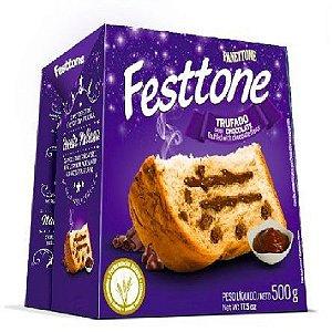 Panettone trufado de chocolate - Festtone - 500 gr