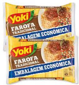FAROFA DE MANDIOCA TEMPERADA - YOKI - 1kg