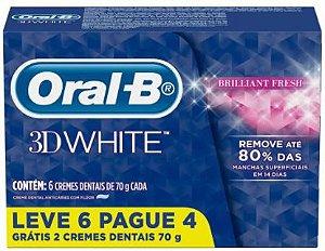 CREME DENTAL 3D WHITE - ORAL-B - 6x70g