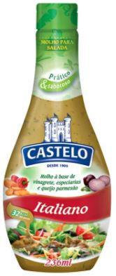 MOLHO PARA SALADA ITALIANO - Castelo - 236mL