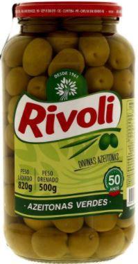 AZEITONA VERDE COM CAROÇO - RIVOLI - 500g
