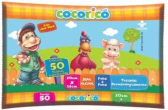 TOALHAS UMEDECIDAS - COCORICO - 50un