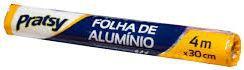 FOLHA DE ALUMINIO ROLO - PRATSY - 1un