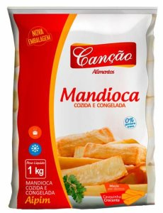 Mandioca tolete congelada - Cançao - 1kg