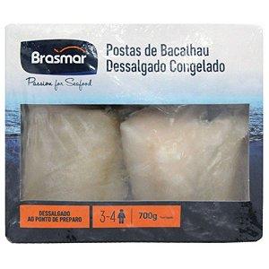 Bacalhau em postas congelado - Brasmar - 700g