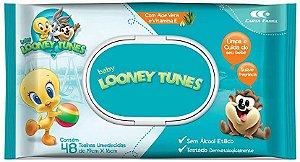 TOALHA UMEDECIDA - LOONEY TUNES - 48un