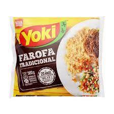Farofa de mandioca temperada tradicional - Yoki