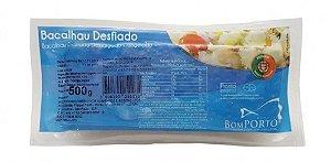 Bacalhau desfiado congelado - Bom porto - 500g