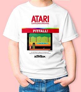 Camiseta Infantil Games Retrô Pitfall