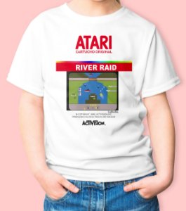 Camiseta Infantil Games Retrô River Raid