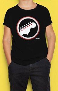Camiseta Infantil Guitarra Escudo