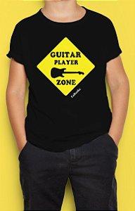 Camiseta Infantil Guitar Player Zone