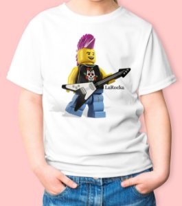 Camiseta Infantil Lego Guitarrista