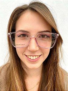 Armação Quadrada Rose para Óculos de Grau Feminino