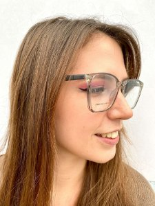 Armação Quadrada Preta Transparente para Óculos de Grau Feminino