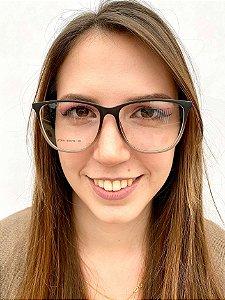 Armação Quadrada Degrade para Óculos de Grau Feminino