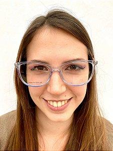 Armação Quadrada Transparente para Óculos de Grau Feminino