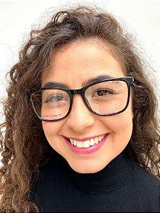 Armação Quadrada Preta para Óculos de Grau Feminino