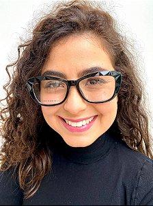 Armação Gatinho Preta para Óculos de Grau Feminino