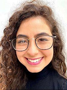 Armação Redonda Preta para Óculos de Grau Feminino