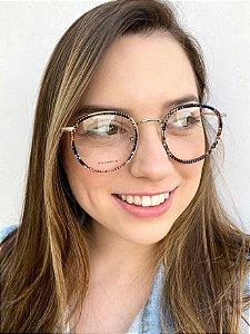 Armação Redonda Colorida para Óculos de Grau Feminino