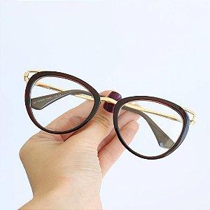 Armação de Óculos de Grau Ravenna Marrom