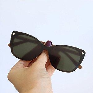 Armação de Óculos de Grau 2 em 1Livy Marrom Mesclado