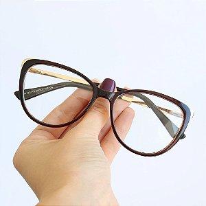 Armação de Óculos de Grau Versalhes Marrom