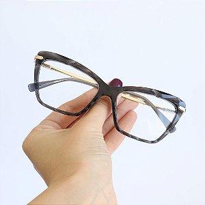 Armação de Óculos de Grau Deli Cinza Escuro Seja Cereja