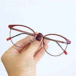 Armação de Óculos de Grau Sardenha Vinho